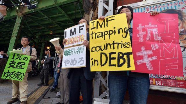Protesto contra o FMI