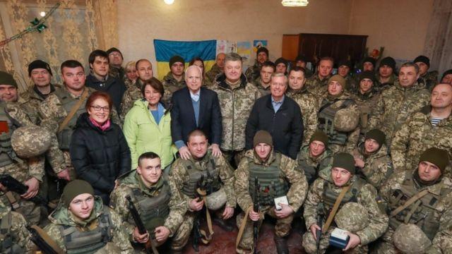 マケイン、グレアム両議員は昨年末、ウクライナを訪問した