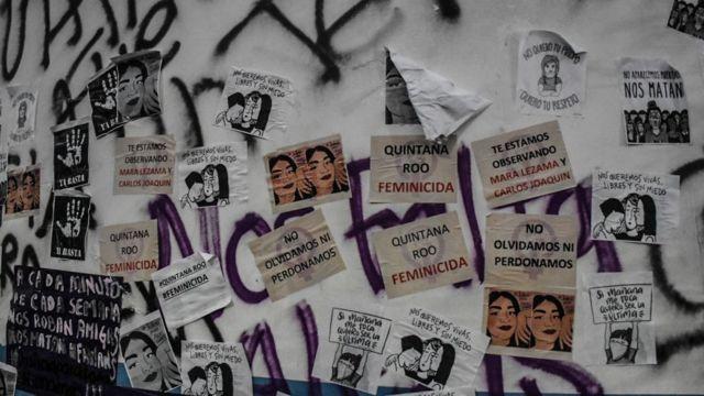 Carteles de la manifestación