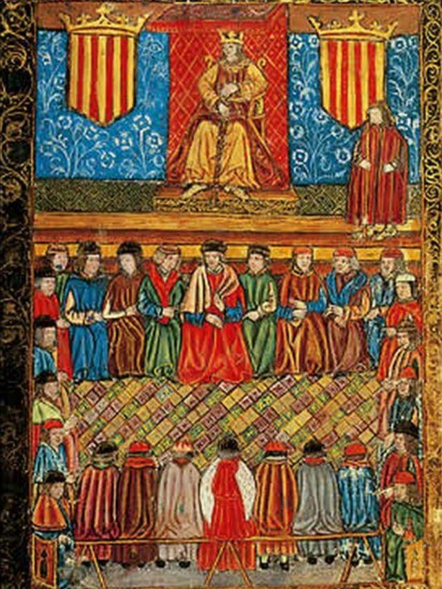 Арагонские кортесы (миниатюра XV века)