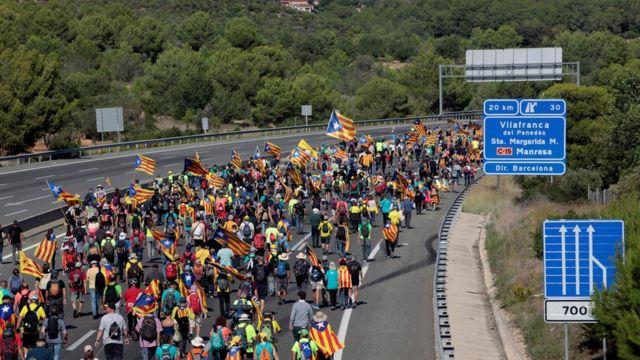 Протестующие на трассе