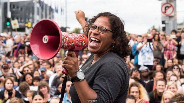 Protesto pelos direitos dos aborígines em Melbourne, na Austrália