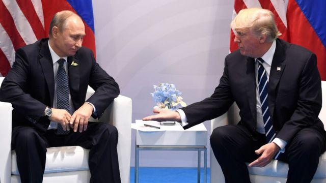 Vladimir Putin na Donald Trump