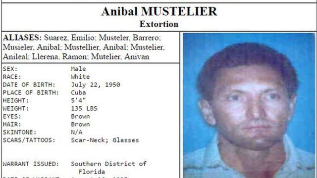 Identificación de Mustelier provista por el Cuerpo de Alguaciles de EE.UU.