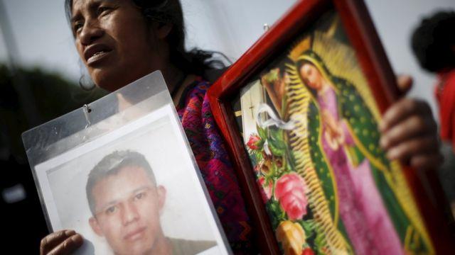Madre de un migrante centroamericano desaparecido