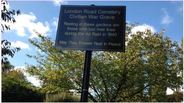 London Road cemetery sign