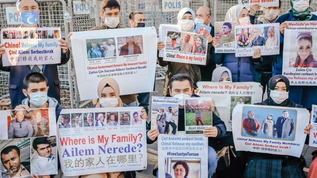 Uygur Türklerinin protestosundan