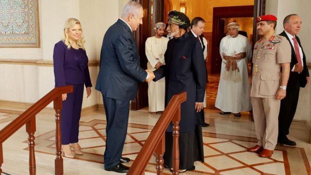 زيارة رئيس الوزراء الإسرائيلي بنيامين نتنياهو لسلطنة عُمان ولقائه بالسلطان قابوس بن سعيد