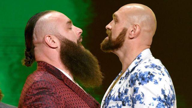 Brawn Strowman and Tyson Fury