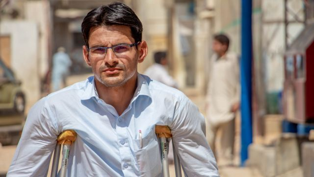 Abrar lost both his legs to polio