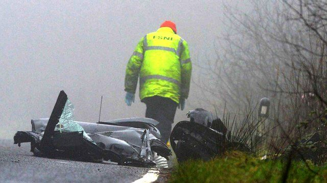 The crash happened on the Cladymilltown Road on Thursday morning
