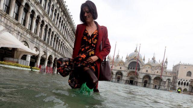 туристка в Венеции, 29 октября 2018