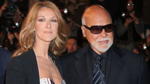 Celine Dion and her husband
