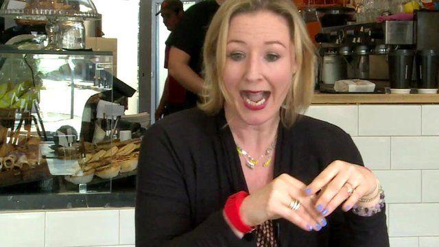 Reporter Zoe Kleinman gets an electric shock