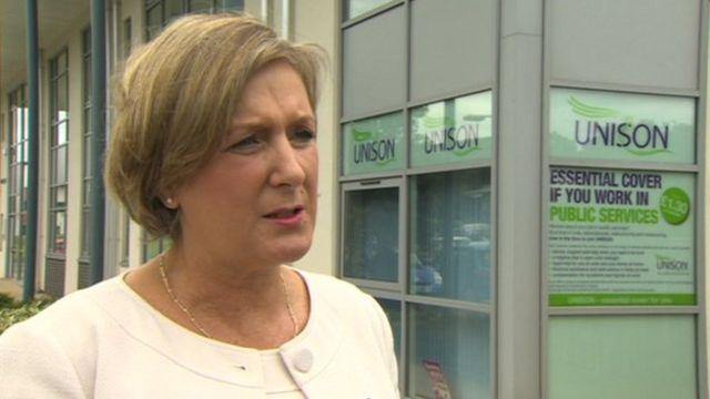 Unison regional secretary in Wales Margaret Thomas