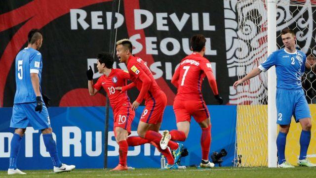 المنتخب الكوري الجنوبي سجل هدفا الفوز في وقت متأخر