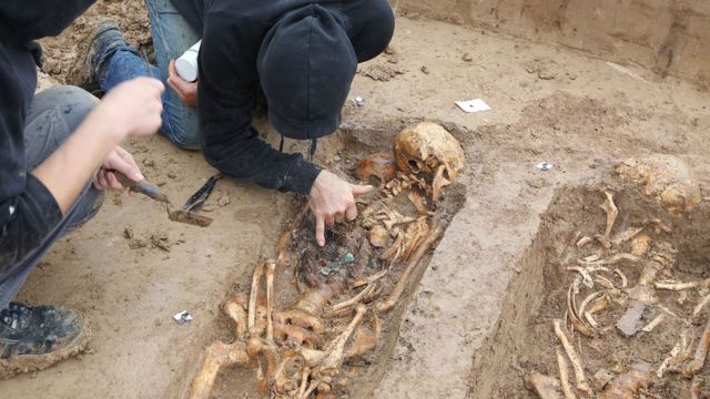 Napoleonic skeletons unearthed in Frankfurt