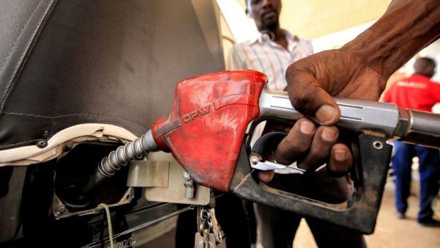 sudan'da benzin istasyonu