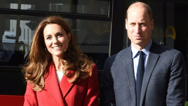 "Britain""s Prince William and Catherine, Duchess of Cambridge visit the launch of the Hold Still campaign at Waterloo Station"