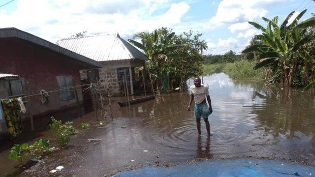 Rivers flooding