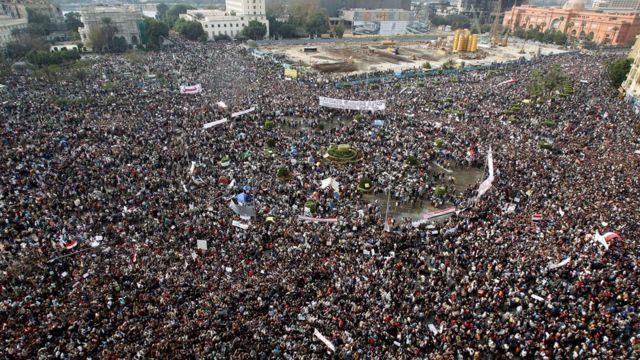 Mübarek karşıtı gösteri