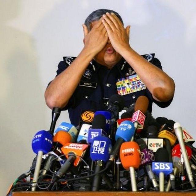 Kepala polisi Malaysia Khalid Abu Bakar