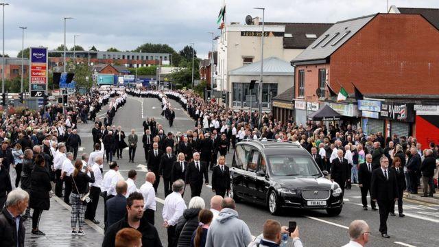 Funeral of Bobby Story in Belfast in June 2020