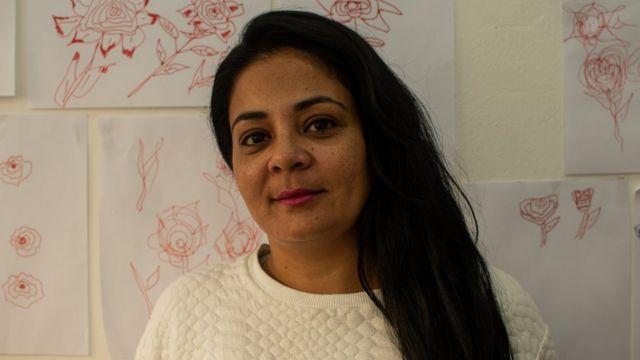 A artesã Tânia Rodrigues