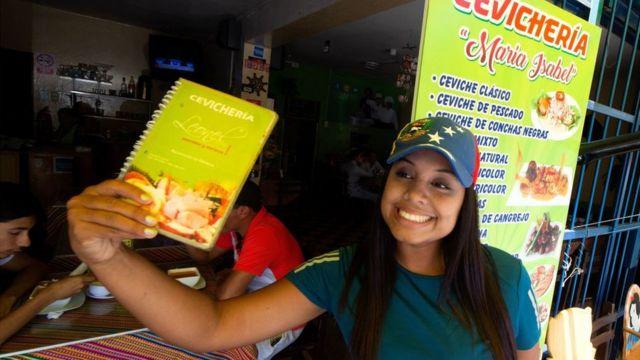 Inmigrante venezolana en Perú.