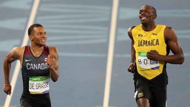 Usain Bolt e Andre De Grasse