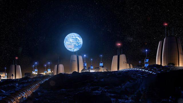 Artwork: Moon village