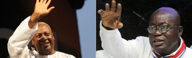 Ibumoso: John Dramani Mahama, i buryo: Nana Akufo-Addo