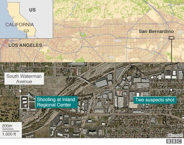事件現場周辺の地図