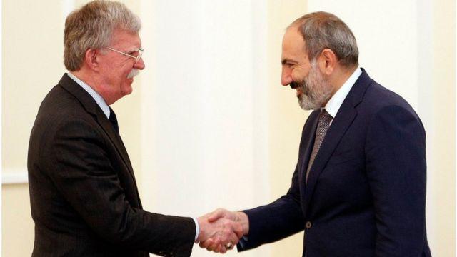 Nikol Paşinyan, John Bolton, ABŞ Ermənistan