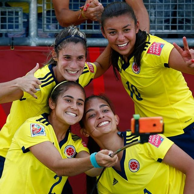 Jugadoras de la selección de Colombia.