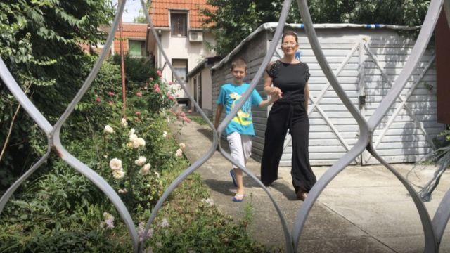 Slavica Obradović sa sinom