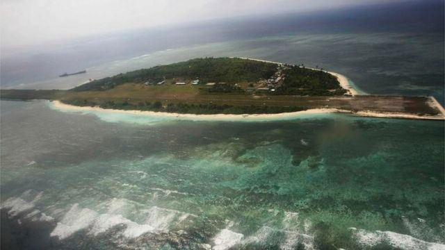 Aerial view of Pagasa (Hope) island