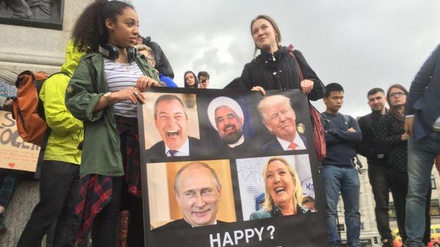 """Митинг против """"брексита"""" на Трафальгарской площади в Лондоне"""
