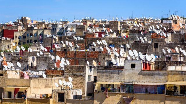 Antenas en Marruecos