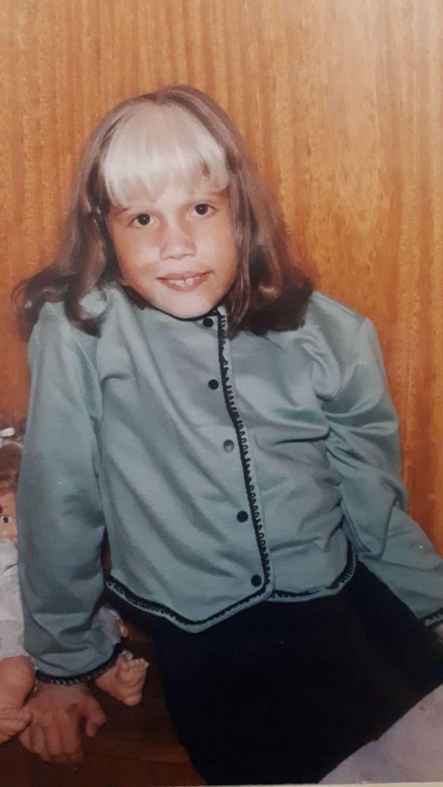 Daiana quando criança