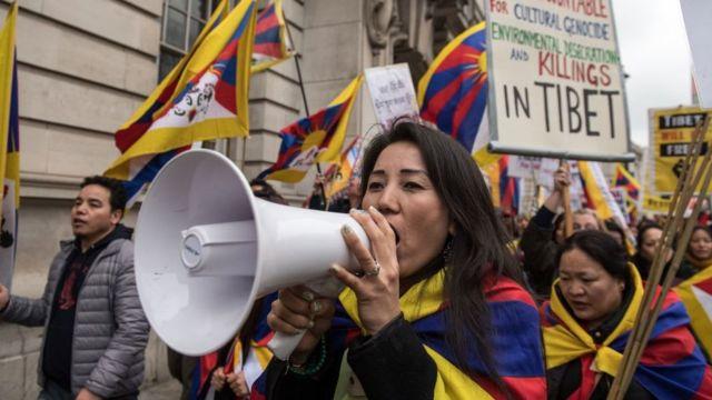 तिब्बती प्रदर्शन