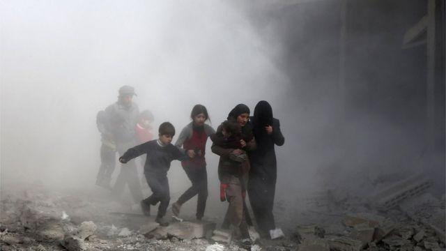 အရှေ့ဂူတာ၊ ဆီးရီးယား၊ ကယ်ဆယ်ရေး