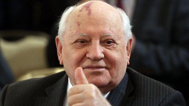 Cựu lãnh đạo Liên bang Xô viết Mikhail Gorbachev trong một buổi lễ kỷ niệm tại Điện Kremlin hôm 12/6/2016
