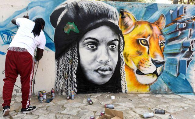 Msanii wa uchoraji Bankslave wa Kenya - Ijumaa 13 April 2019, Dakar Senegal