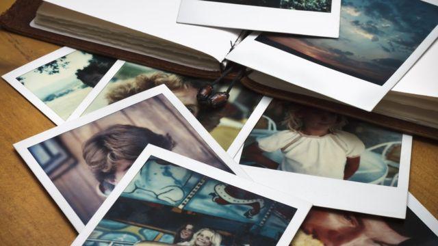 Detalles de fotografías tipo polaroid.