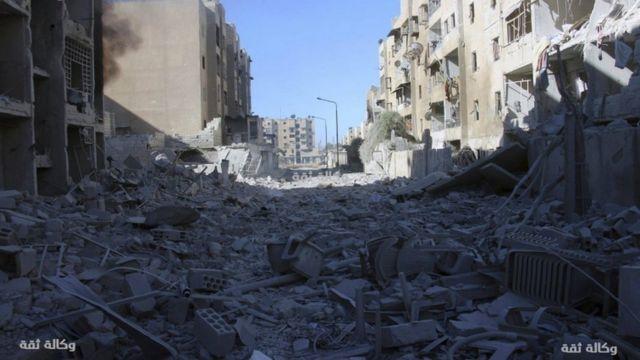 منازل مهدمة في حلب