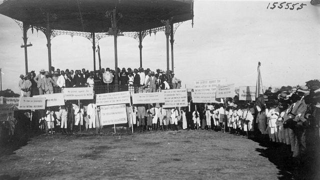 Protesta contra la ocupación estadounidense de Haití en 1921.
