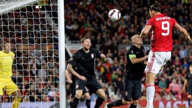Ibrahimovic yatsinze igitego kigira gatandatu kuva ashitse muri Man United