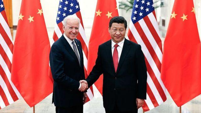 Joe Biden y Xi Jingping.