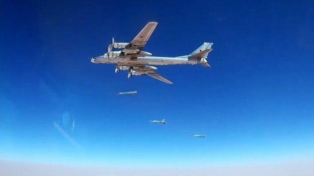 Aviões russos em ação na Síria